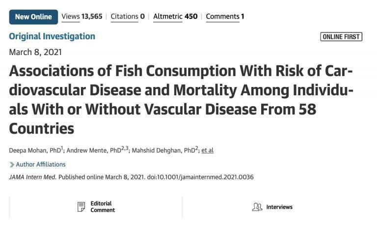 omega-3是心血管患者救星!《JAMA》:每周吃两份鱼预防心脏病发